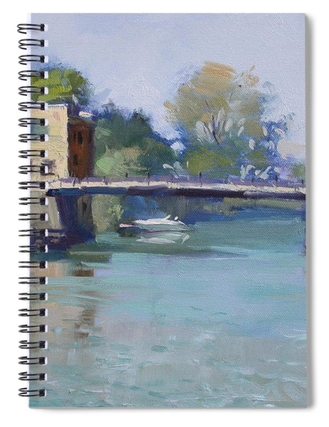 Bridge At Tonawanda Canal Spiral Notebook