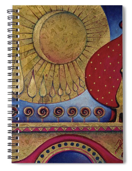 Bridge Between Sunrise And Moonrise Spiral Notebook