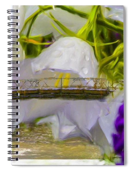 Bridge Flower.  Spiral Notebook