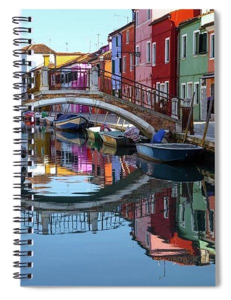 Bridge In Burano  Spiral Notebook