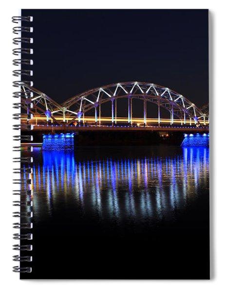 Bridge In Riga  Spiral Notebook