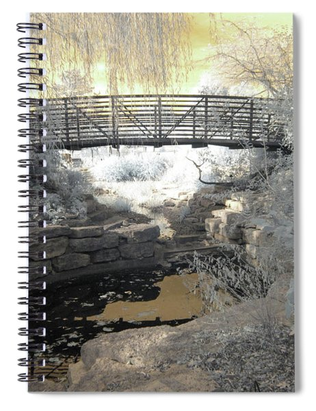 Bridge In Shades Of Infrared Spiral Notebook