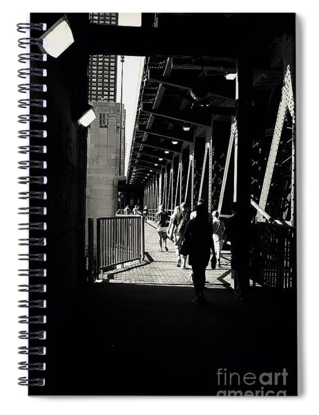 Bridge - Lower Lake Shore Drive At Navy Pier Chicago. Spiral Notebook