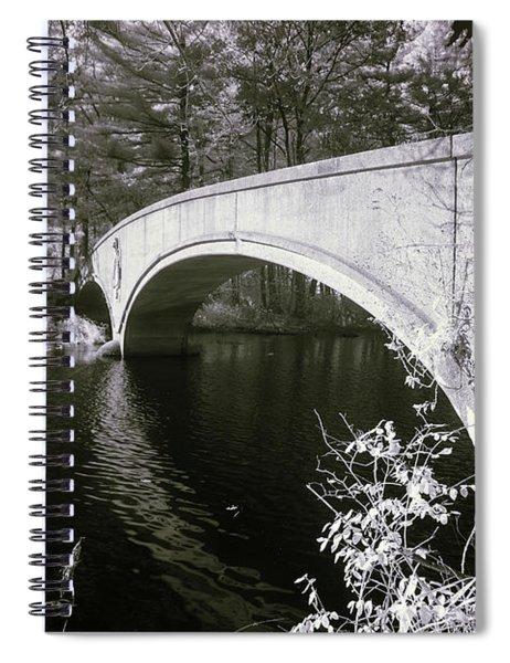 Bridge Over Infrared Waters Spiral Notebook