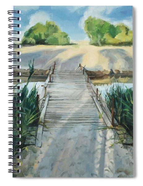 Bridge To Beach Spiral Notebook