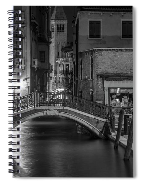 Bridge To The Tower Venice Italy  Spiral Notebook