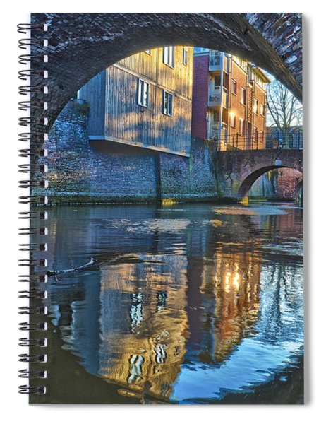 Bridges Across Binnendieze In Den Bosch Spiral Notebook