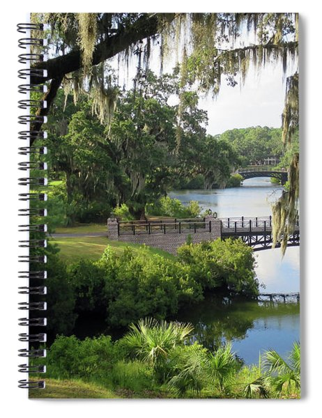 Bridges Over Tranquil Waters Spiral Notebook