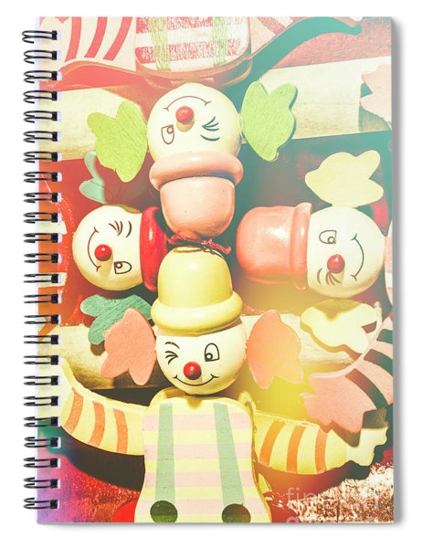 Bright Beaming Clown Show Act Spiral Notebook