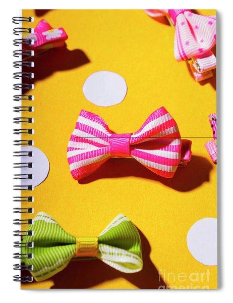 Bright Bow Tie Gallery Spiral Notebook