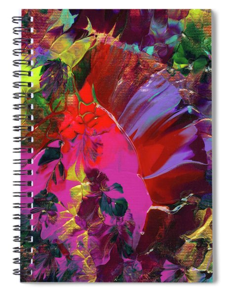 Bright Flaming Sun Flares Spiral Notebook