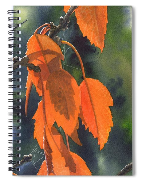 Bright Orange Leaves Spiral Notebook
