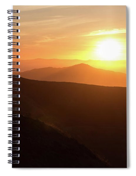 Bright Sun Rising Over The Mountains Spiral Notebook