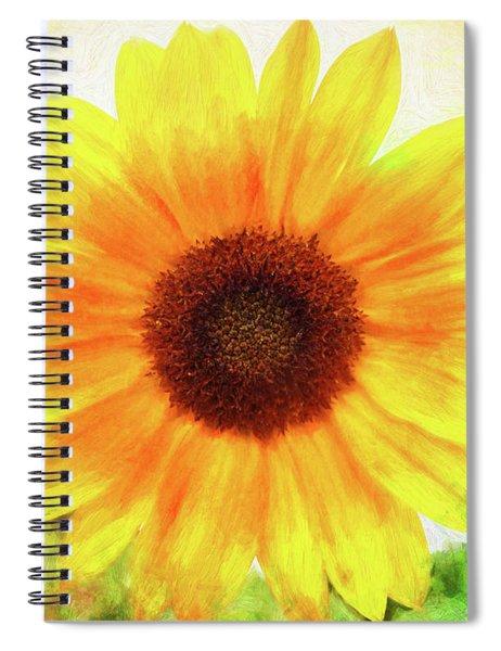 Bright Yellow Sunflower - Painted Summer Sunshine Spiral Notebook