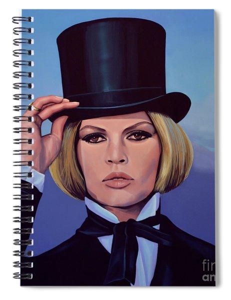 Brigitte Bardot Painting 2 Spiral Notebook