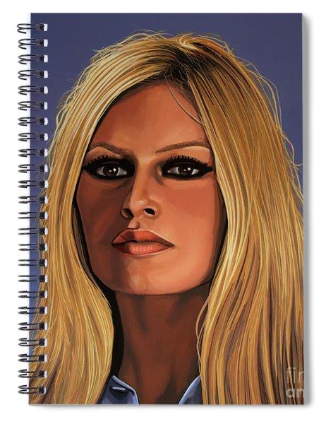 Brigitte Bardot Painting 3 Spiral Notebook