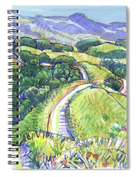 Briones Crest In May, Lafayette, Ca Spiral Notebook