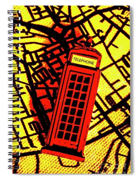 Brit Phone Box Spiral Notebook