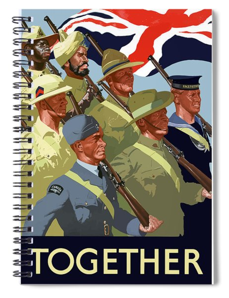 British Empire Soldiers Together Spiral Notebook