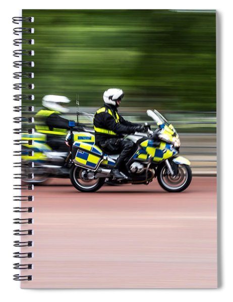 British Police Motorcycle Spiral Notebook