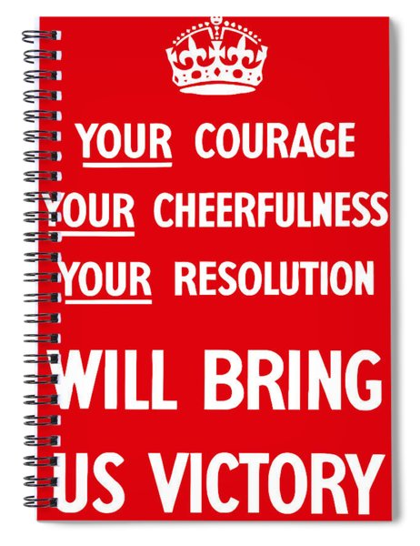 British Ww2 Propaganda Spiral Notebook