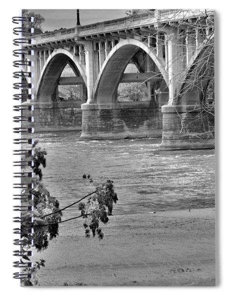 Gervais Street Bridge Black And White Spiral Notebook
