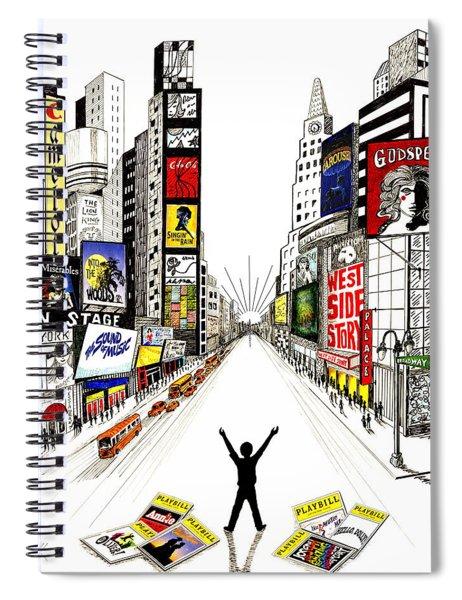 Broadway Dreamin' Spiral Notebook
