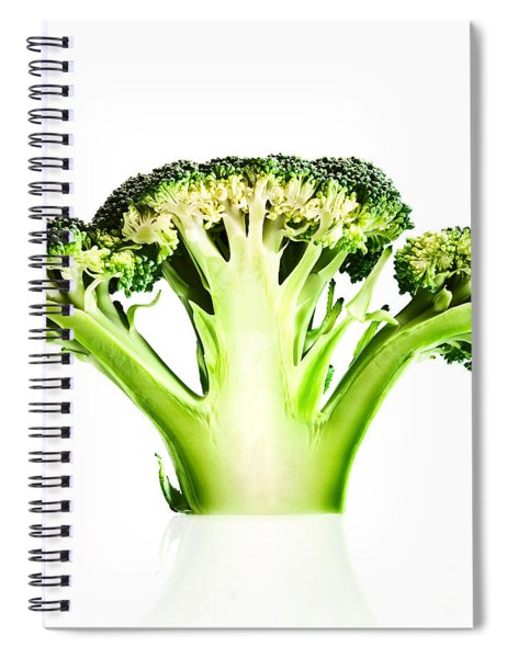 Broccoli Cutaway On White Spiral Notebook