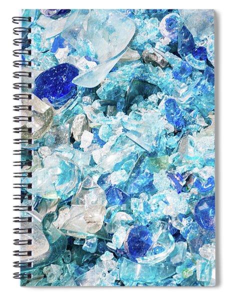 Broken Glass Blue Spiral Notebook