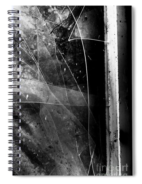 Broken Glass Window Spiral Notebook