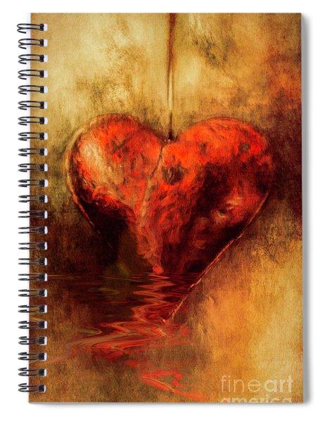 Broken Hearted Spiral Notebook