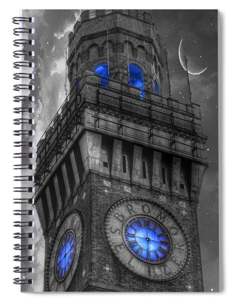 Bromo Seltzer Tower Baltimore - Blue  Spiral Notebook