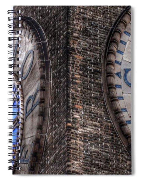 Bromo Seltzer Tower Clock Face #2 Spiral Notebook
