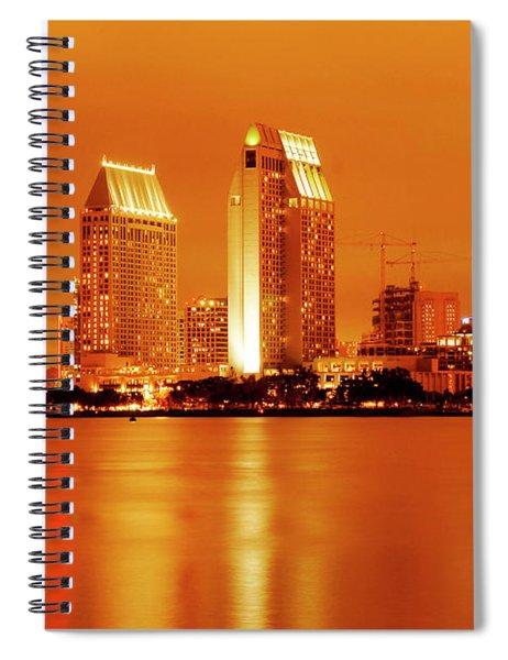 Bronze San Diego Skyline Spiral Notebook