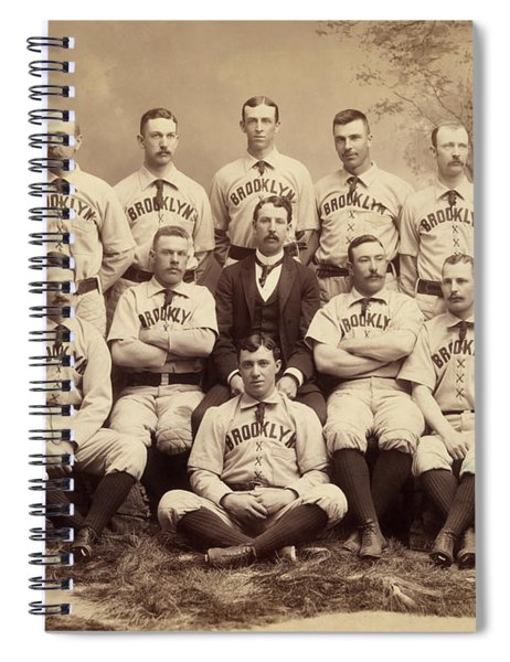 Brooklyn Bridegrooms Baseball Team Spiral Notebook