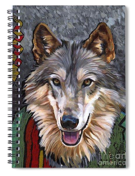 Brother Wolf Spiral Notebook