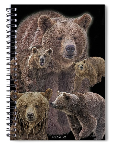 Brown Bears 8 Spiral Notebook
