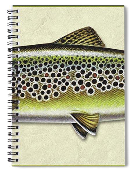 Brown Trout Id Spiral Notebook