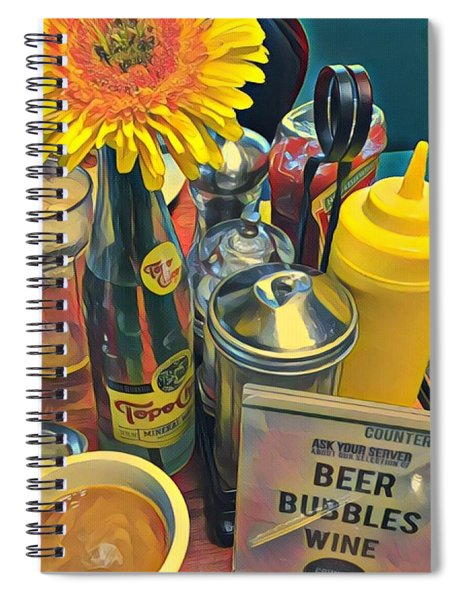 Brunch At Counter Cafe Spiral Notebook