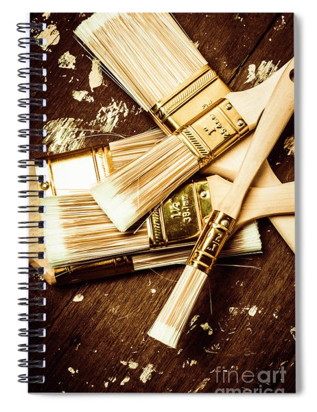 Brushes Of Interior Decoration Spiral Notebook