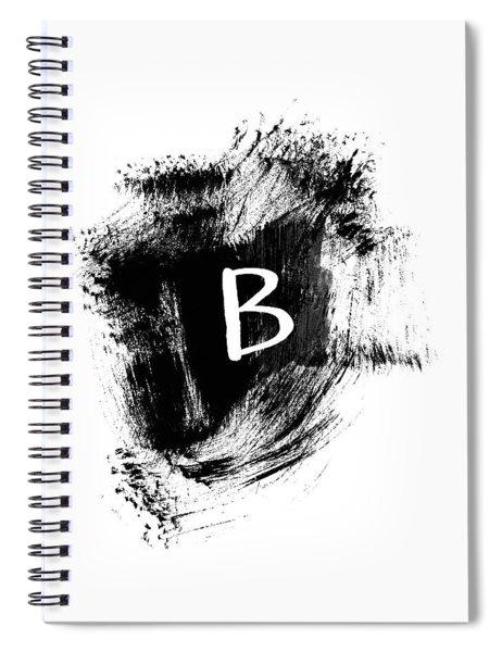 Brushtroke B-monogram Art By Linda Woods Spiral Notebook