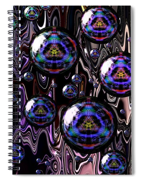 Bubble Abstract 1a Spiral Notebook