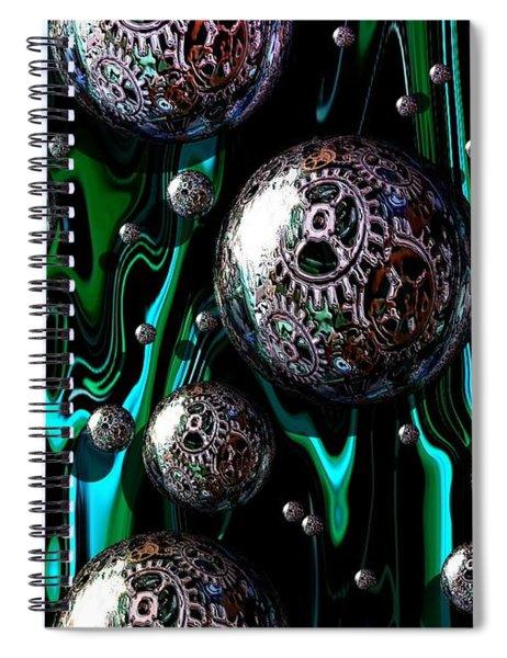 Bubble Abstract 1e Spiral Notebook