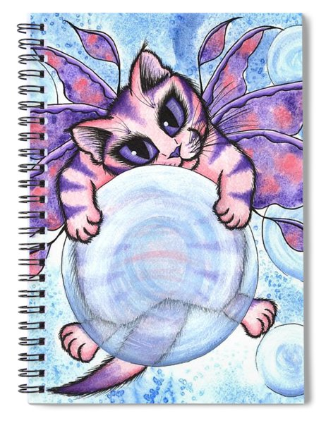 Bubble Fairy Kitten Spiral Notebook