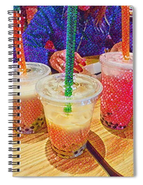 Bubble Tea For Three Spiral Notebook