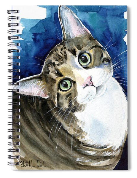 Bubbles - Tabby Cat Painting Spiral Notebook