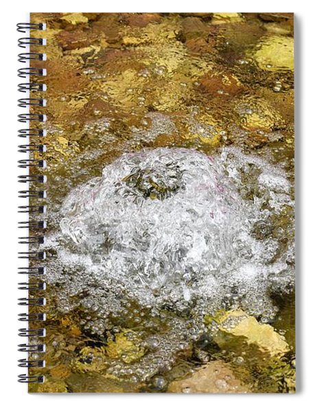 Bubbling Water In Rock Fountain Spiral Notebook