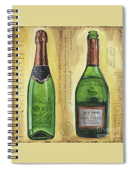 Bubbly Champagne 1 Spiral Notebook