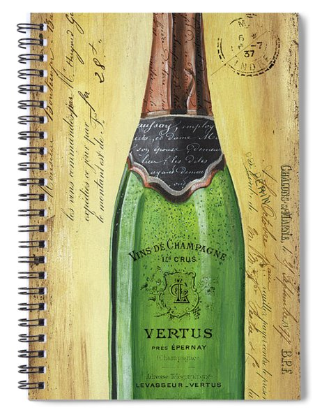 Bubbly Champagne 2 Spiral Notebook