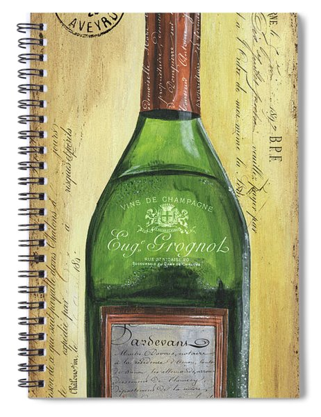 Bubbly Champagne 3 Spiral Notebook